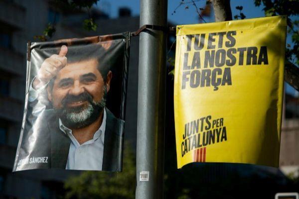 Cartel de campaña de Jordi Sànchez.