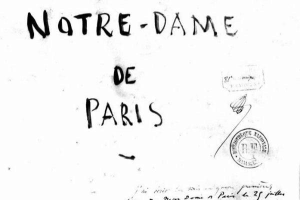 Manuscrit de &quot;Notre-Dame de Paris&quot; de <HIT>Victor</HIT>...