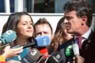 Valls junto a Arrimadas en una imagen de archivo