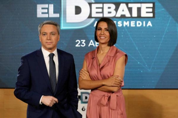 Vicente Vallés y Ana Pastor, en la presentación del debate de Atresmedia.