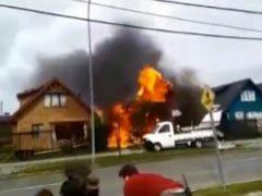 Una avioneta se estrella contra una vivenda en Chile