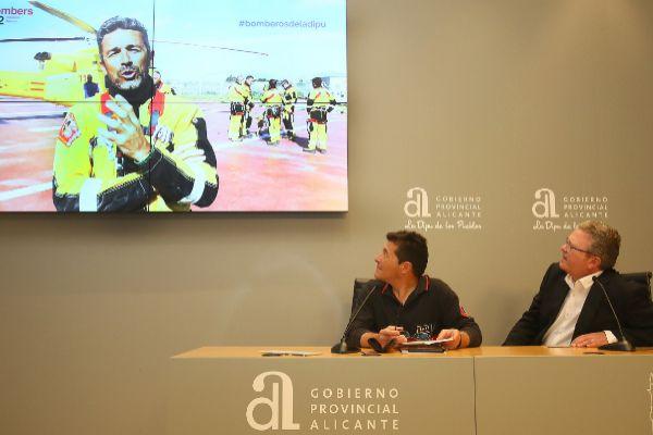 Presentación del tríptico y del vídeo explicativo, este miércoles, en la sede de la Diputación.