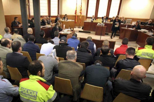 Imagen de archivo del juicio celebrado en la Audiencia de Barcelona en 2013