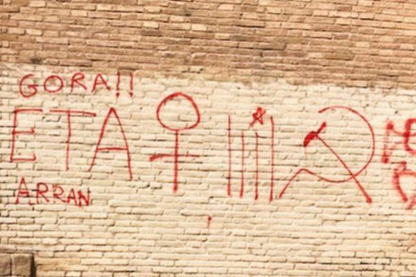 Imagen de las pintadas denunciadas