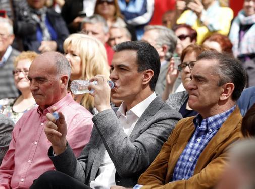 Pedro Sánchez, en un acto celebrado recientemente en Leganés...