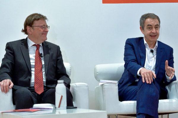 El ex presidente del Gobierno, José Luis Rodríguez Zapatero, en un acto en Algemesí, reivindió ayer la figura del candidato socialista a la Generalitat Valenciana, Ximo Puig