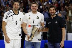 """Doncic, homenajeado en Madrid: """"Esta es mi casa"""""""
