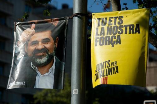 Cartel de la campaña de Jordi Sànchez.