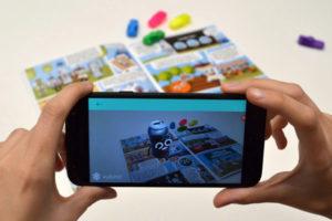 La app muestra los personajes del cómic en 3D.
