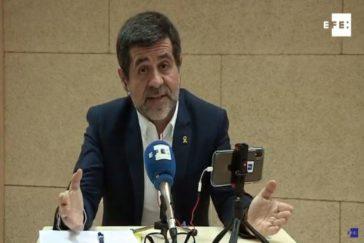 Jordi Sànchez, durante la emisión telemática