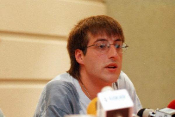 David Pla, en una imagen de 1998 durante una rueda de prensa de...