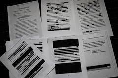 Parte del informe censurado de Mueller sobre la trama rusa.
