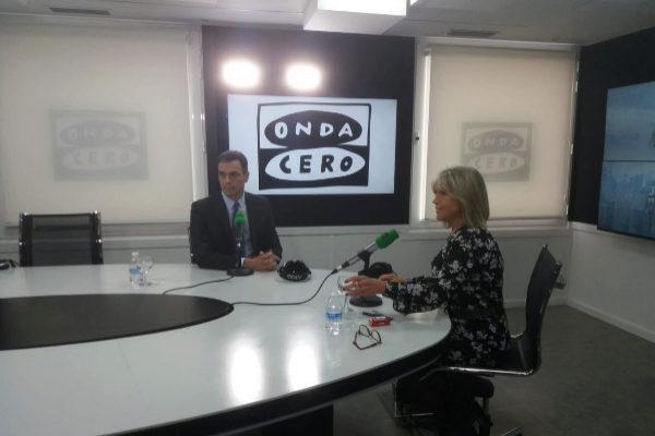 Pedro Sánchez, durante la entrevista en Onda Cero.