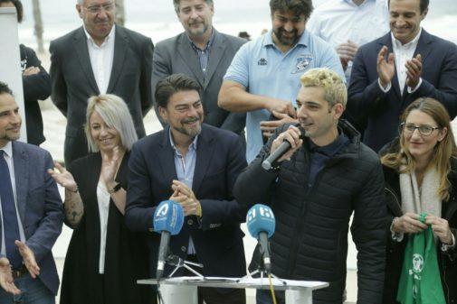 El Alcalde de Alicante, Luis Barcala durante la presentación del programa.