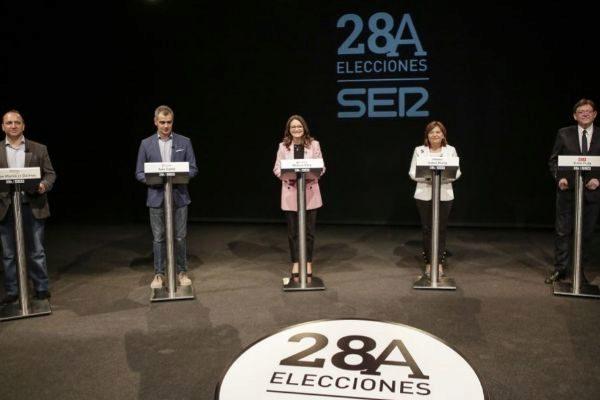 Debate electoral en la Ser entre los candidatos a la presidencia de la Generalitat Valenciana.