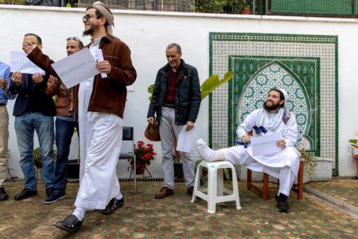 El imán de la mezquita del barrio de La Macarena de Sevilla, Mohammad Idrissi (d), junto al presidente de la Unión de Comunidades Islámicas de Sevilla, Hassamad Idrissi.
