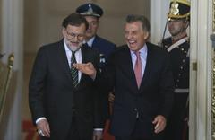 Mauricio Macri y Mariano Rjoy en la Casa Rosada