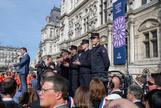 El ministro de Interior, Christophe Castaner, durante el acto de homenaje.