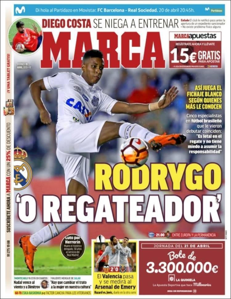 Portadas de la prensa deportiva (19/04/2019)