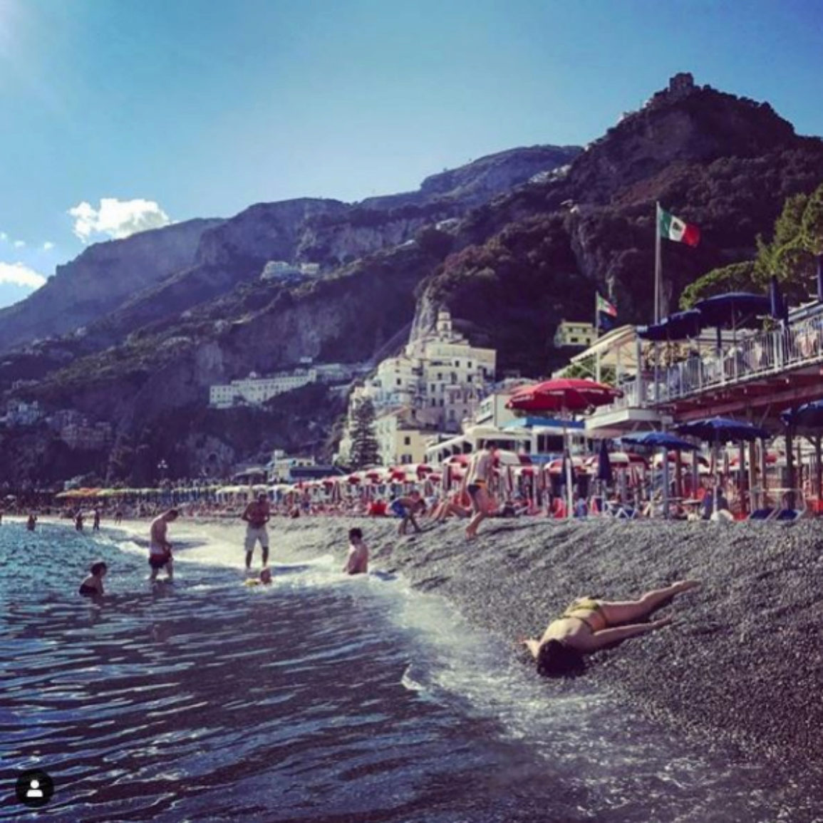 'Stef muere en la costa Amalfitana'. Costa Amalfitana, Italia.