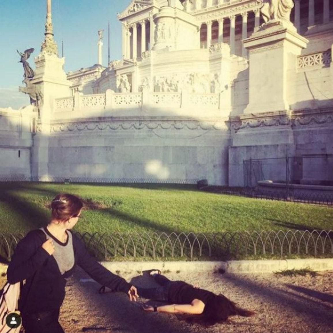 'Stef muere en el Altar de la Patria'. Roma.