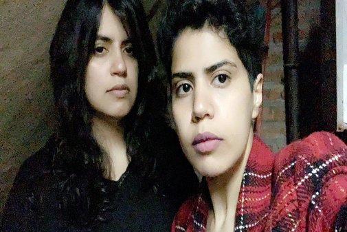 Maha y Wafa al-Subaie, en una imagen subida a Twitter.