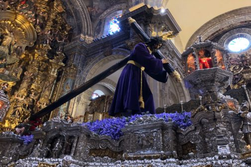 Pasión de Martínez Montañés en la mañana del Jueves Santo, antes de su procesión.