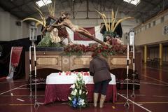 El cristo de una cofradía de la Semana Santa Marinera.