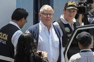 El ex presidente de Perú Pedro Pablo Kuczynski es detenido el pasado 10 de abril.