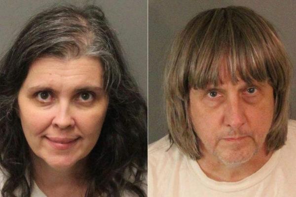 Fotografías de la detención en 2018 del matrimonio Turpin.