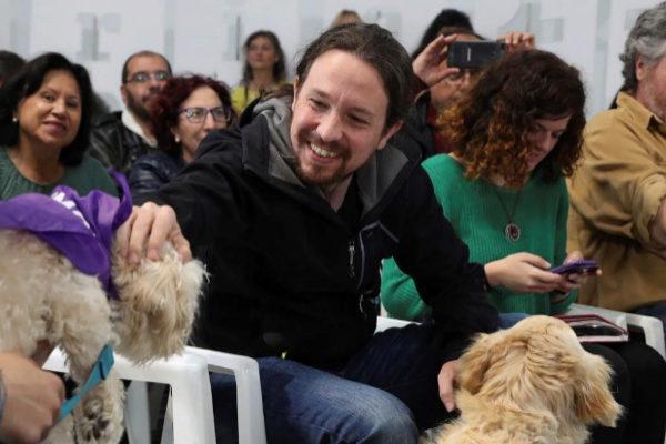 Pablo Iglesias, en un acto contra el maltrato animal.