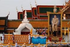 Preparativos para la coronación del rey de Tailandia.
