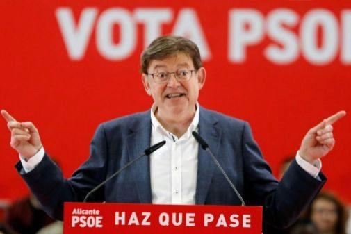 El presidente de la Generalitat y candidato socialista, Ximo Puig
