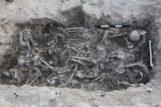 Restos de los cruzados encontrados en un cementerio en Sidon, Líbano.
