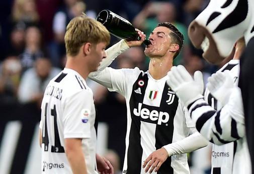 Juventus celebra el título de la Juventus.