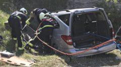 Fallece una mujer en una salida de calzada en la A-1 en Álava