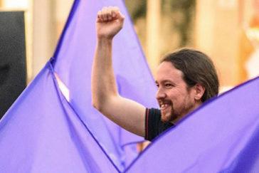 Pablo Iglesias, el sábado, en un acto de Podemos en Bilbao.