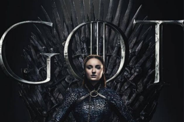 Sophie Turner como Sansa Stark en un póster de la última temporada...