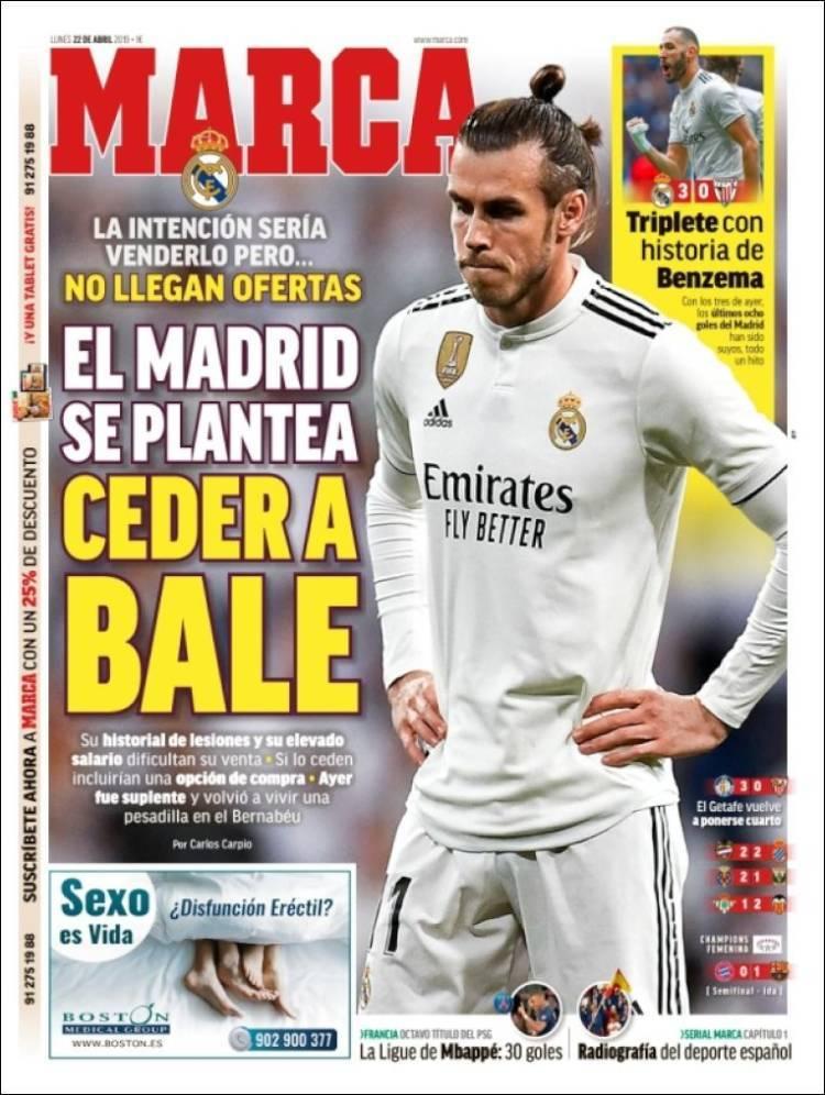 Las portadas de los periódicos deportivos del 22 de abril