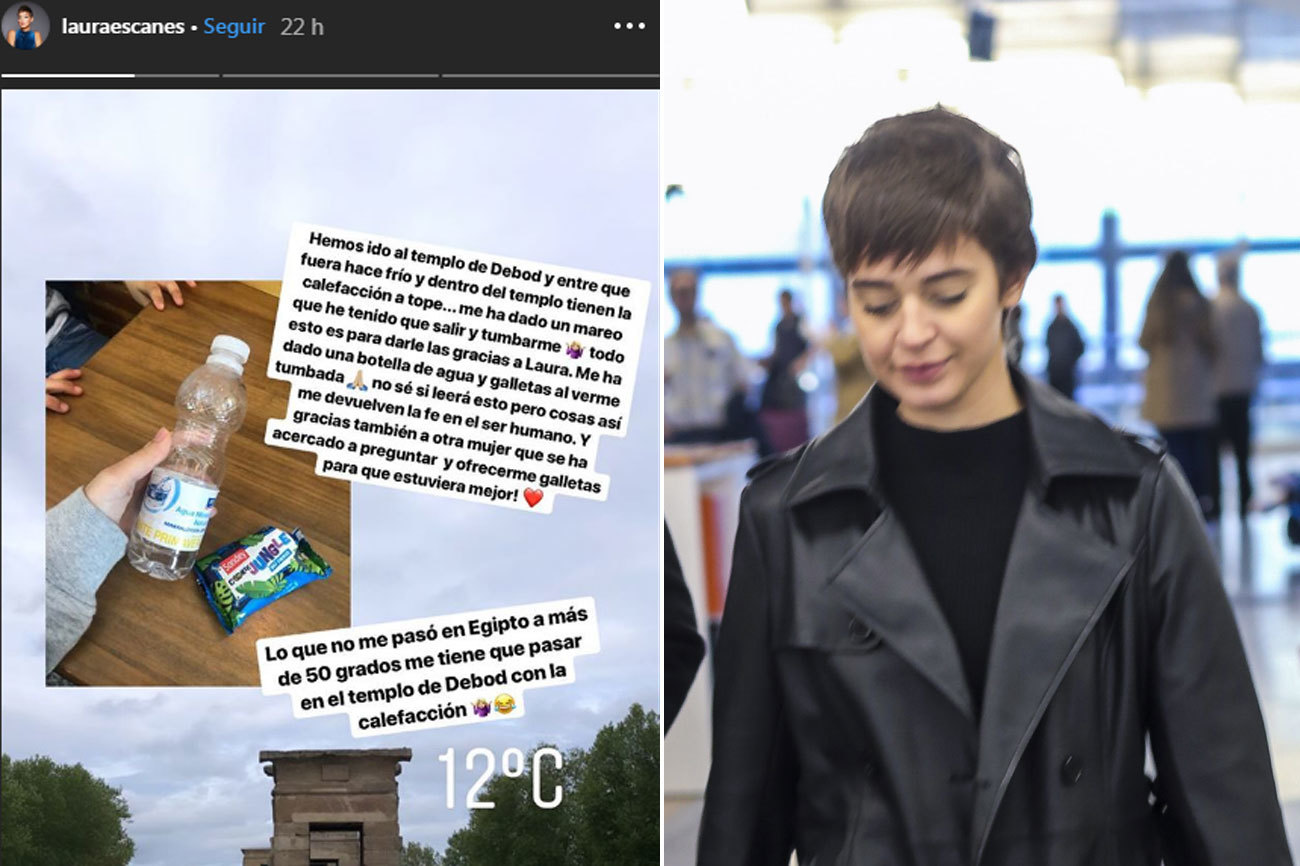 Laura Escanes (23) ha aprovechado la Semana Santa para acudir al...