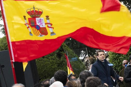 Pablo Casado, en un acto del PP celebrado en Toledo.