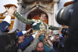 Salida a hombros de El Juli en la tarde del indulto al toro 'Orgullito' de Garcigrande.