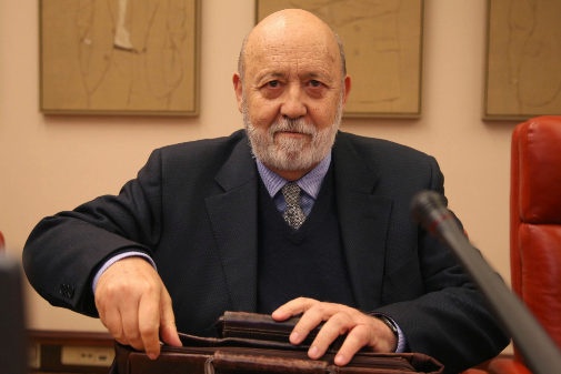 El presidente del CIS, José Félix Tezanos, en la comisión de presupuestos celebrada el 31 de enero de 2019