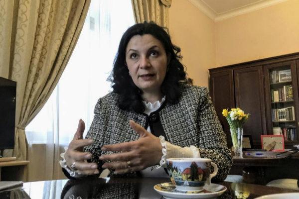 Ivanna Klympush-Tsintsadze, en su despacho en Kiev.