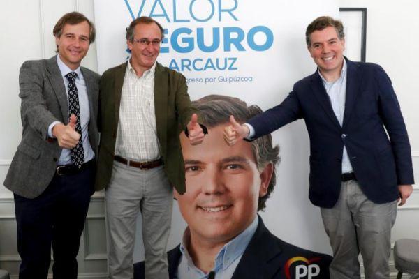 González Terol, Alonso y Arcauz, en San Sebastián.