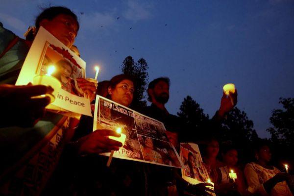 Homenaje a las víctimas de los atentados en Sri Lanka.