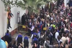 Quema del muñeco de Carles Puigdemont en Coripe