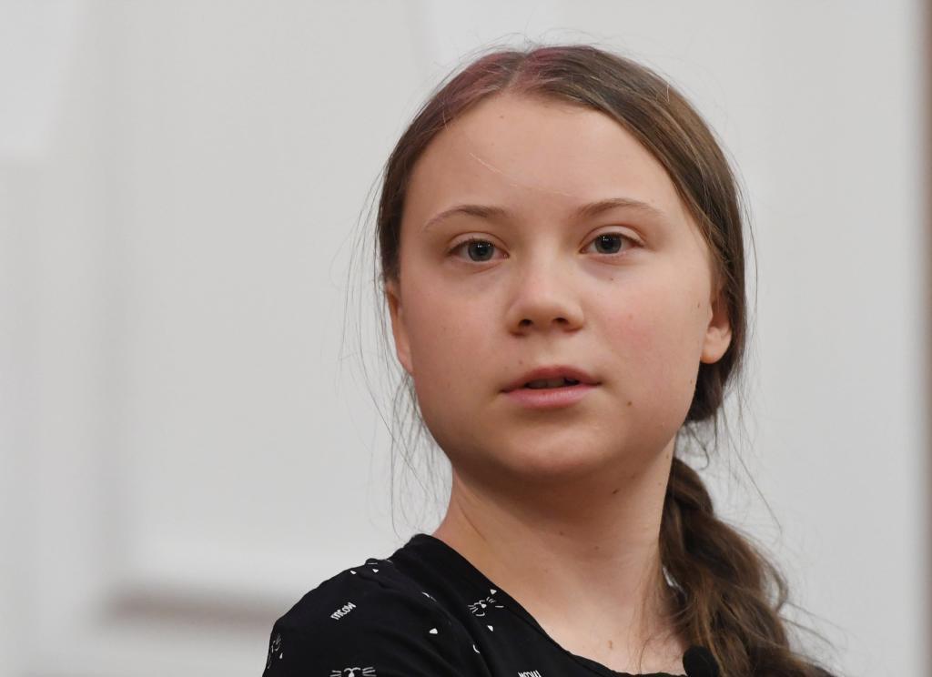 Greta Thunberg en una cumbre por el clima en Londres.