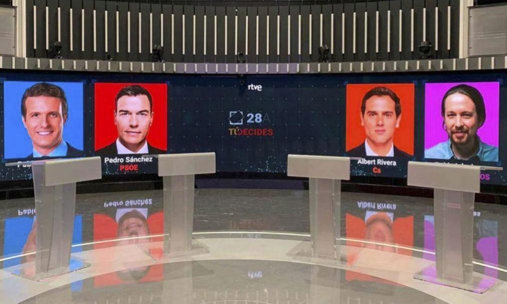 Fotos de los candidatos de PP, PSOE, Ciudadanos y Podemos en las...