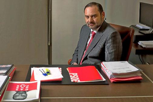 José Luis Ábalos, durante su entrevista con EL MUNDO